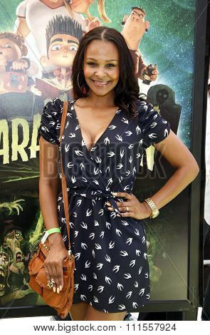 Samantha Mumba at the Los Angeles premiere of 'ParaNorman' held at the Universal CityWalk in Universal City, USA on August 5, 2012.