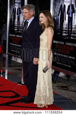 Calista Flockhart at the Los Angeles premiere of 'Extraordinary Measures' held at the Grauman's Chinese Theater in Hollywood, USA on January 19, 2010.