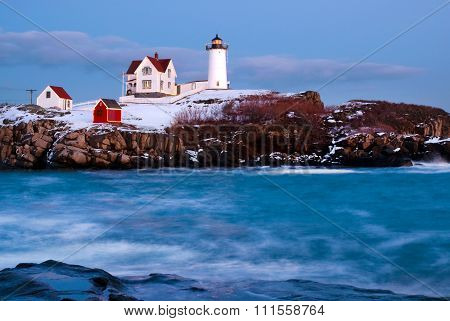 Holiday Spirit Lighthouse In Maine