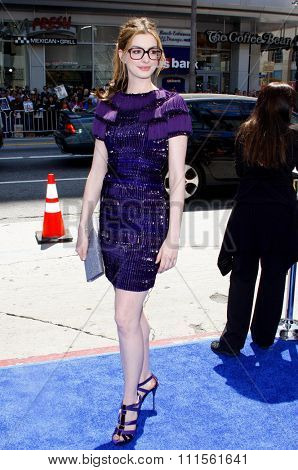 HOLLYWOOD, CA - APRIL 10, 2011: Anne Hathaway at the Los Angeles premiere of 'Rio' held at the Grauman's Chinese Theater in Hollywood, USA on April 10, 2011.
