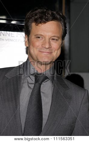 HOLLYWOOD, CA - NOVEMBER 05, 2009: Colin Firth at the AFI FEST 2009 Screening of 'A Single Man' held at the Grauman's Chinese Theater in Hollywood, USA on November 5, 2009.