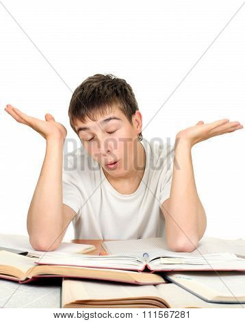 Confused Student Gesturing