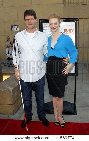 HOLLYWOOD, CA - JULY 19, 2012: Deborah Ann Woll and E.J. Scott at the Los Angeles premiere of 'Ruby Sparks' held at the Egyptian Theatre in Hollywood, USA on July 19, 2012.