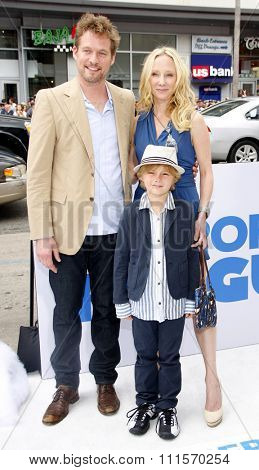 James Tupper, Homer Laffoon and Anne Heche at the Los Angeles premiere of 'Mr. Popper's Penguins' held at the Grauman's Chinese Theatre in Hollywood, USA on June 12, 2011.