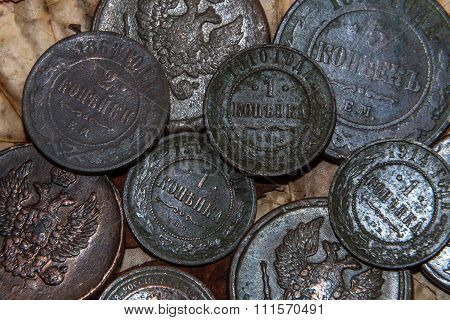 Copper coin of small face value