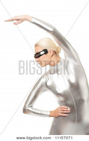 Picture of a Cyber woman doing fitness exercise