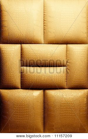 Sepia picture of a genuine leather upholstery