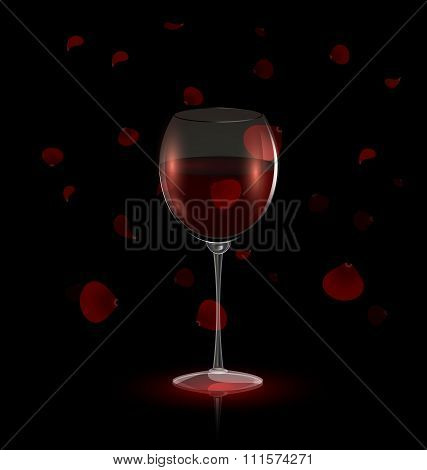 petals and red wine