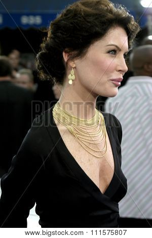 WESTWOOD, CA - JULY 07, 2004: Lara Flynn Boyle at the World premiere of 'I, Robot' held at the Mann Village Theatre in Westwood, USA on July 7, 2004.