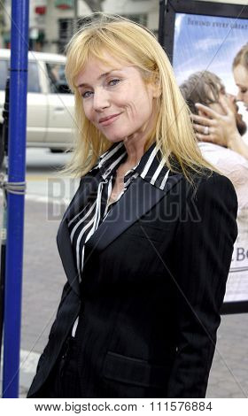 WESTWOOD, CA - JUNE 21, 2004: Rebecca De Mornay at the Los Angeles premiere of 'The Notebook' held at the Mann Village Theatre in Westwood, USA on June 21, 2004.