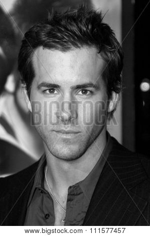 HOLLYWOOD, CA - DECEMBER 07, 2004: Ryan Reynolds at the Los Angeles premiere of 'Blade: Trinity' held at the Grauman's Chinese Theater in Hollywood, USA on December 7, 2004.