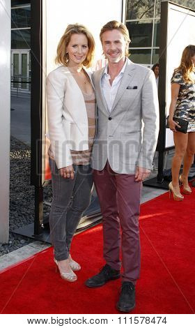 HOLLYWOOD, CA - MAY 30, 2012: Sam Trammell and Missy Yager at the HBO's 'True Blood' season 5 premiere held at the ArcLight Cinemas in Hollywood, USA on May 30, 2012.