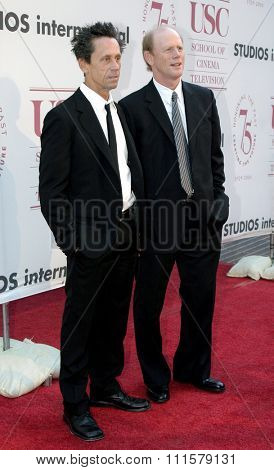 Brian Grazer and Ron Howard at the 75th Diamond Jubilee Celebration for the USC School of Cinema-Television held at the USC's Bovard Auditorium in Los Angeles, USA on September 26, 2004.