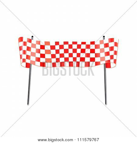 Red Checkered Flag Racing Gates