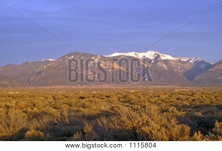 Sangre De Cristo Mountains In Taos, Nm