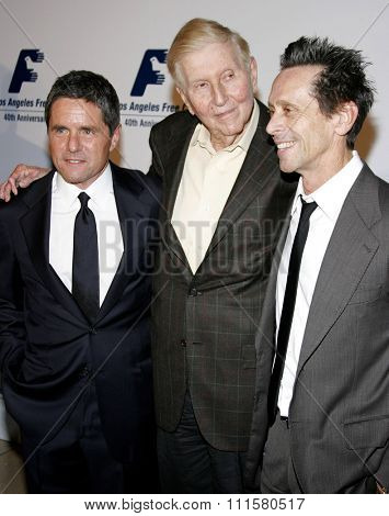 BEVERLY HILLS, CA - NOVEMBER 20, 2006: Brian Grazer, Brad Grey and Sumner Redstone at the 2006 Los Angeles Free Clinic Gala held at the Beverly Hilton Hotel in Beverly Hills, USA on November 20, 2006.
