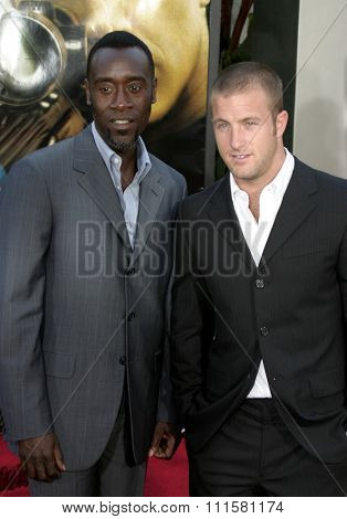 HOLLYWOOD, CA - JULY 15, 2004: Don Cheadle and Scott Caan at the World premiere of 'The Bourne Supremacy' held at the ArcLight Cinema in Hollywood, USA on July 15, 2004.
