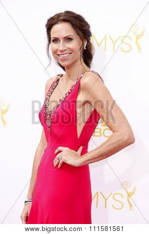 LOS ANGELES, CA - AUGUST 25, 2014: Minnie Driver at the 66th Annual Primetime Emmy Awards held at the Nokia Theatre L.A. Live in Los Angeles, USA on August 25, 2014.