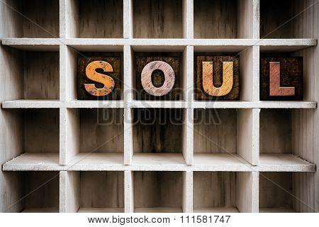 Soul Concept Wooden Letterpress Type In Drawer