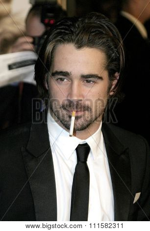HOLLYWOOD, CA - NOVEMBER 16, 2004: Colin Farrell at the Los Angeles premiere of 'Alexander' held at the Grauman's Chinese Theater in Hollywood, USA on November 16, 2004.