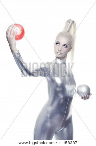 Beautiful cyber woman