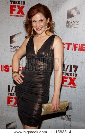 HOLLYWOOD, CA - JANUARY 10, 2012: Faline England at the season 2 premiere of FX's 'Justified' held at the DGA Theater in Hollywood, USA on January 10, 2012.