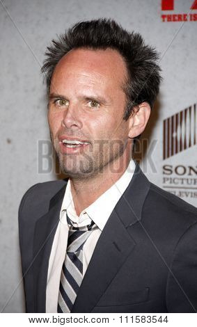 HOLLYWOOD, CA - JANUARY 10, 2012: Walton Goggins at the season 2 premiere of FX's 'Justified' held at the DGA Theater in Hollywood, USA on January 10, 2012.