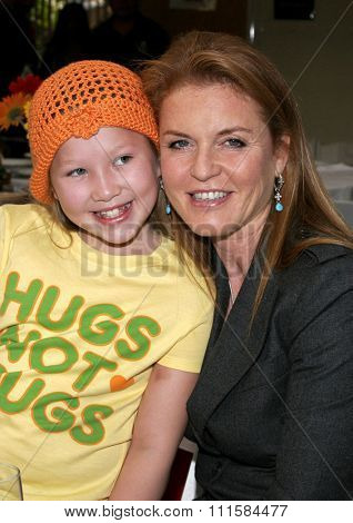 LOS ANGELES, CA - NOVEMBER 15, 2005: The Dutchess of York Sarah Ferguson at the 2005 World Children's Day at the Ronald McDonald House in Los Angeles, USA on November 15, 2005.