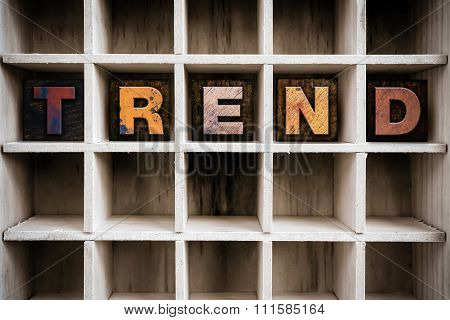 Trend Concept Wooden Letterpress Type In Drawer