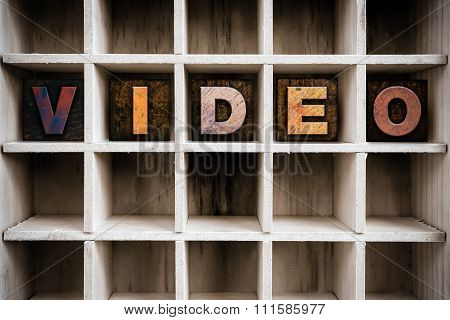 Video Concept Wooden Letterpress Type In Drawer