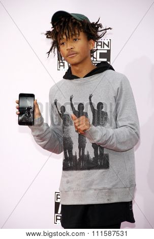 LOS ANGELES, CA - NOVEMBER 23, 2014: Jaden Smith at the 2014 American Music Awards held at the Nokia Theatre L.A. Live in Los Angeles on November 23, 2014.