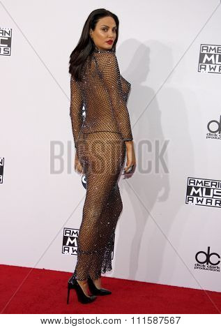 LOS ANGELES, CA - NOVEMBER 23, 2014: Bleona Qereti at the 2014 American Music Awards held at the Nokia Theatre L.A. Live in Los Angeles on November 23, 2014.