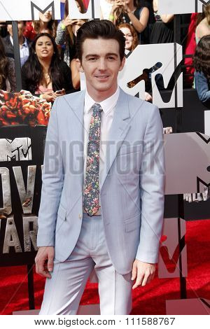LOS ANGELES, CA - APRIL 13, 2014: Drake Bell at the 2014 MTV Movie Awards held at the Nokia Theatre L.A. Live in Los Angeles, USA on April 13, 2014.