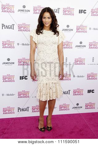 Paula Patton at the 2013 Film Independent Spirit Awards held at the Santa Monica Beach in Los Angeles, United States on February 23, 2013.