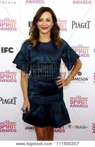 Rashida Jones at the 2013 Film Independent Spirit Awards held at the Santa Monica Beach in Los Angeles, United States on February 23, 2013.