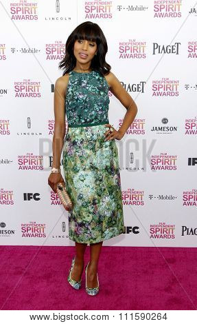 Kerry Washington at the 2013 Film Independent Spirit Awards held at the Santa Monica Beach in Los Angeles, United States on February 23, 2013.