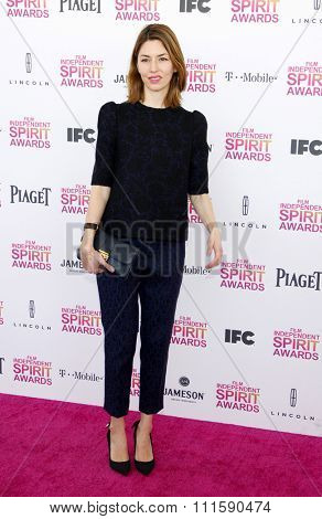Sofia Coppola at the 2013 Film Independent Spirit Awards held at the Santa Monica Beach in Los Angeles, United States on February 23, 2013.