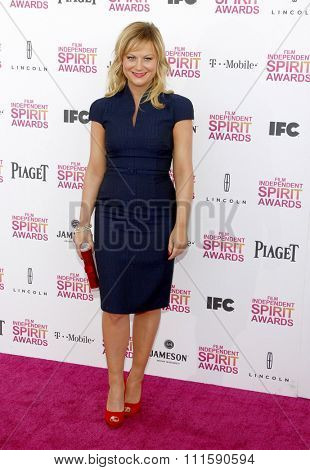Amy Poehler at the 2013 Film Independent Spirit Awards held at the Santa Monica Beach in Los Angeles, United States on February 23, 2013.