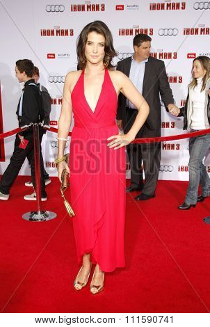 HOLLYWOOD, CA - APRIL 20, 2013: Cobie Smulders at the Los Angeles premiere of