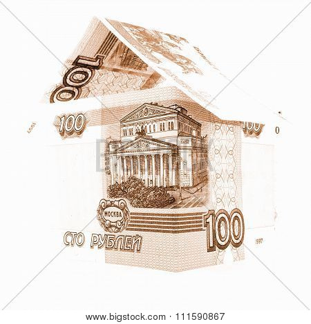 Russian Money Ruble Bond, Rouble Banknote Residential Isolated, White Background