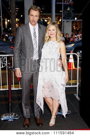 Dax Shepard and Kristen Bell at the Los Angeles premiere of 'This Is Where I Leave You' held at the TCL Chinese Theatre in Los Angeles, United States, 150914.