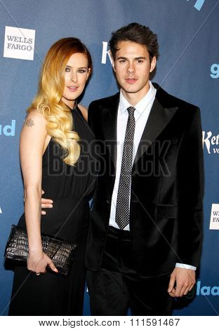 Jayson Blair and Rumer Willis at the 24th Annual GLAAD Media Awards held at the JW Marriott Los Angeles at L.A. LIVE in Los Angeles, USA on April 20, 2013.