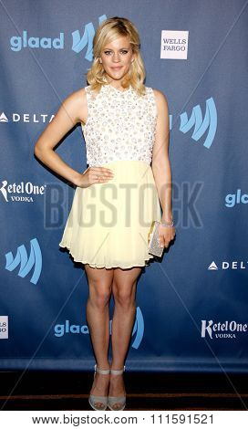 Georgia King at the 24th Annual GLAAD Media Awards held at the JW Marriott Los Angeles at L.A. LIVE in Los Angeles, USA on April 20, 2013.