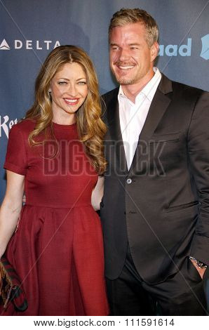 Rebecca Gayheart and Eric Dane at the 24th Annual GLAAD Media Awards held at the JW Marriott Los Angeles at L.A. LIVE in Los Angeles, USA on April 20, 2013.