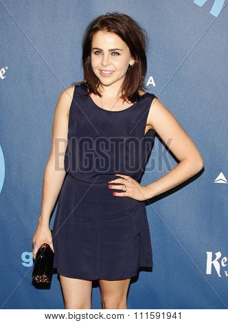 Mae Whitman at the 24th Annual GLAAD Media Awards held at the JW Marriott Los Angeles at L.A. LIVE in Los Angeles, USA on April 20, 2013.