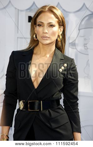 Jennifer Lopez at the 2015 MTV Movie Awards held at the Nokia Theatre L.A. Live in Los Angeles, USA on April 12, 2015.
