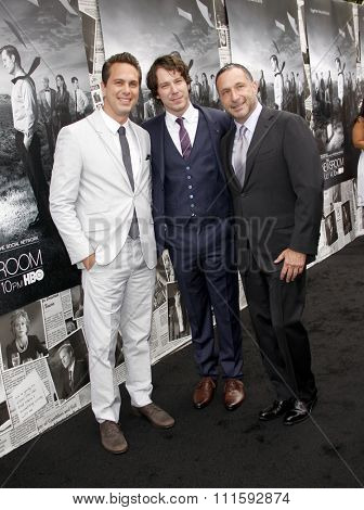 Thomas Sadoski, John Gallagher Jr. and Alan Poul at the HBO's Season 2 Premiere Of