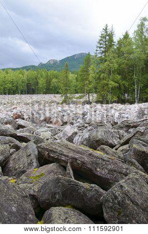 Big stone river. Taganay. Southern Urals-1