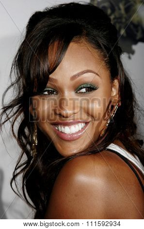 10/17/2005. Meagan Good attends the Usher Host Truth Tour DVD Launch Party at the Hollywood Roosevelt Hotel in Hollywood, CA, USA.