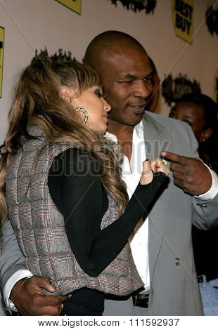 10/17/2005. Fergie and Mike Tyson at the Usher Host Truth Tour DVD Launch Party at the Hollywood Roosevelt Hotel in Hollywood, CA, USA.